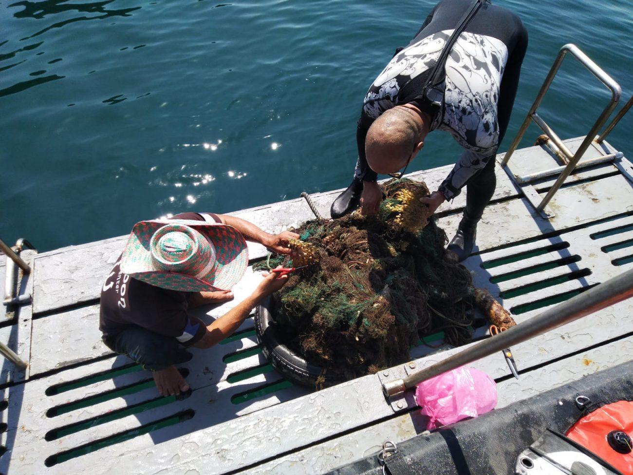 Abandoned fishing Net Koh Haa 2
