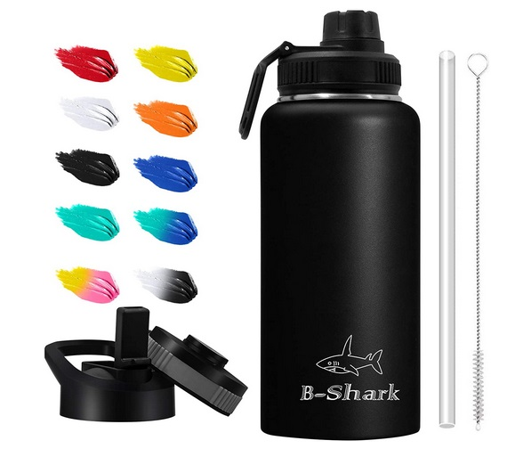 Water Bottle 32 oz Water Bottle with Straw Double Wall Vacuum Stainless Steel