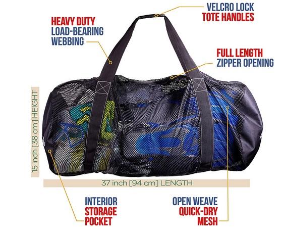 Athletico Mesh Dive Duffel Bag