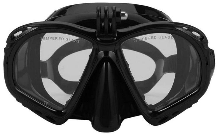 MHSHKS Schnorchel-Tauchmaske Diving Mask Mit Kamerahalterung