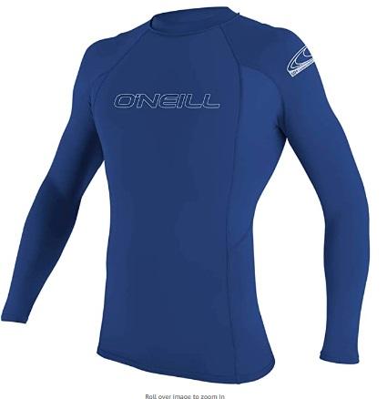 O'Neill Men's Basic Skins UPF 50+ Long Sleeve Rash Guard