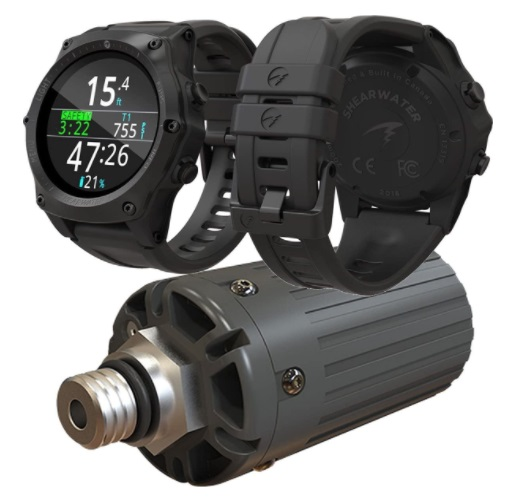 SHEARWATER RESEARCH Teric Wrist Dive Computer with transmitter