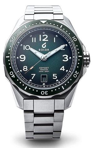 Boldr Odyssey Freediver Automatic Green Dive Watch