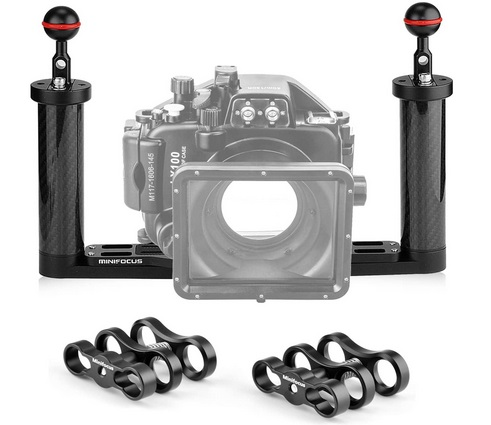 Camera underwater tray floating arms