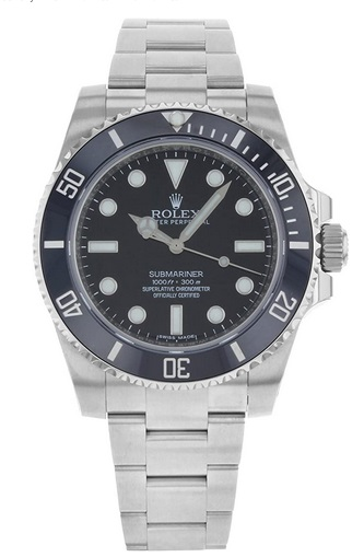 Rolex New Submariner 114060 Steel Black Ceramic Dive Watch