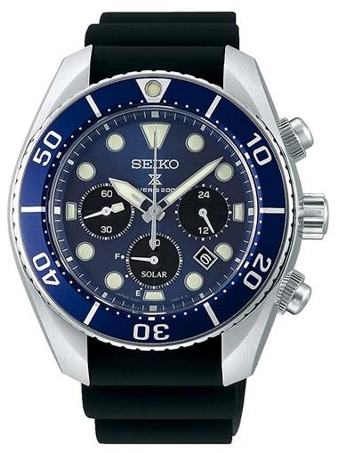 Seiko Prospex Chrono Diver watch 200m Solar