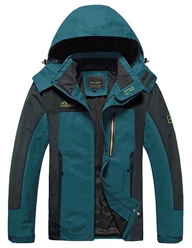MAGCOMSEN Men's Hooded Hiking Jacket