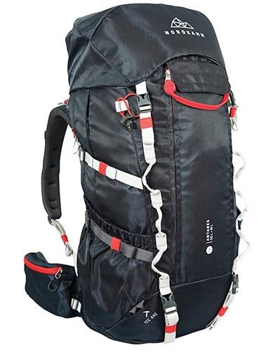 NORDKAMM Trekking-Rucksack Backpacker Rucksack, 50l +10