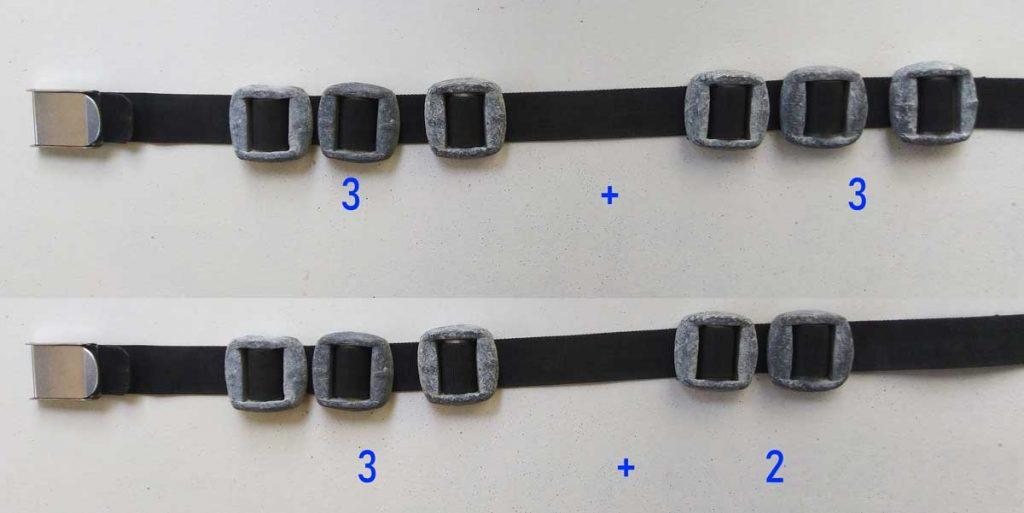 Weightbelt-weight-distribution