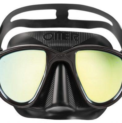 OMER Alien coated lenses freediving Mask