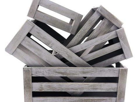Wooden crate zero waste